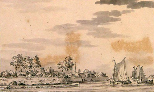 Historie van Moordrecht - Gezicht op Moordrecht - Atlas Andries Schoemaker ca. 1700.