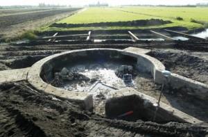 Historie van Moordrecht: geschutsstelling Tweede Wereldoorlog bij Vijfde Tochtweg (foto RAAP).