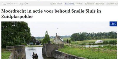 Petitie Snelle Sluis: UNESCO-werelderfgoedadviseur Icomos beslist na de zomer of ze zich sterk wil maken voor behoud.