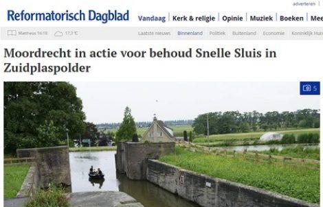 Petitie behoud Snelle Sluis: UNESCO-werelderfgoedadviseur Icomos beslist na de zomer of ze zich sterk wil maken voor behoud.