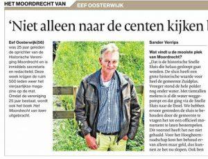 Historische Vereniging Moordrecht - secretaris Eef Oosterwijk interview AD