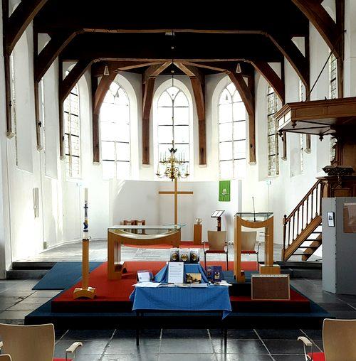 Open Monumentendag 2018-Historische Vereniging Moordrecht:  kerkinterieur Dorpskerk.