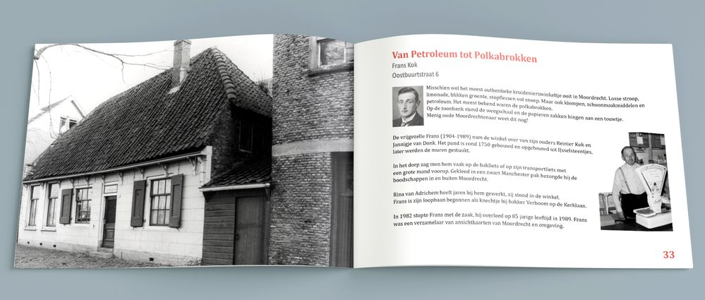 Het fraaie jubileumboek 'Moordrecht van Toen' ter gelegenheid van het 25-jarig bestaan van de Historische Vereniging Moordrecht.