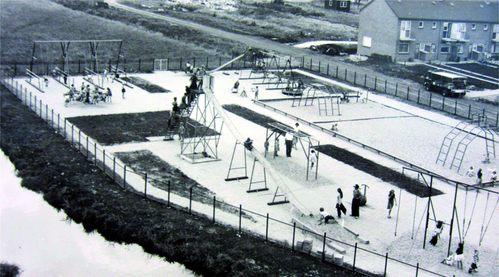 De voormalige speeltuin aan de Koningin Julianastraat in Moordrecht.