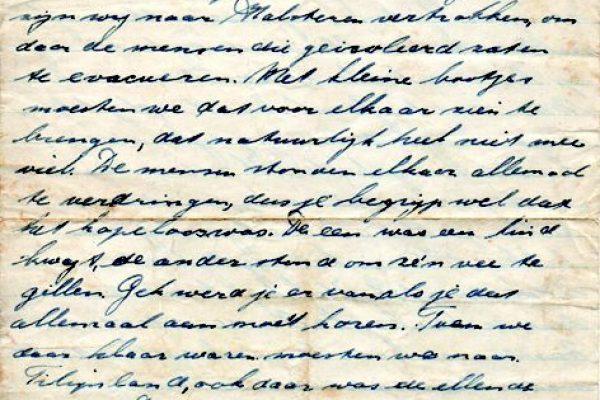 Moordrechtenaar Cor van den Heuvel schrijft aan zijn ouders over zijn ervaringen tijdens de evacuatie van Tholen na de watersnoodramp van 1953.
