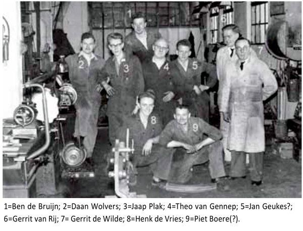 Historische Vereniging Moordrecht - Moerdregt: foto personeel K.V.T. 1957.